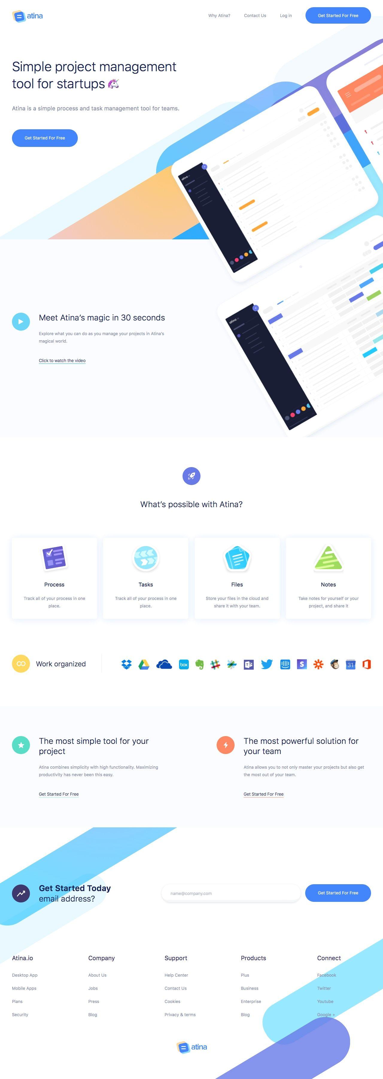Atina Landing Page Design Inspiration Lapa Ninja Web Design Creative Web Design Web App Design