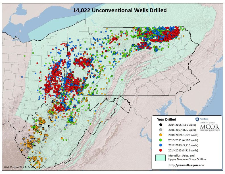 Pennsylvania S Bountiful Future Due To Fracking Historical Maps Infographic Map Utica