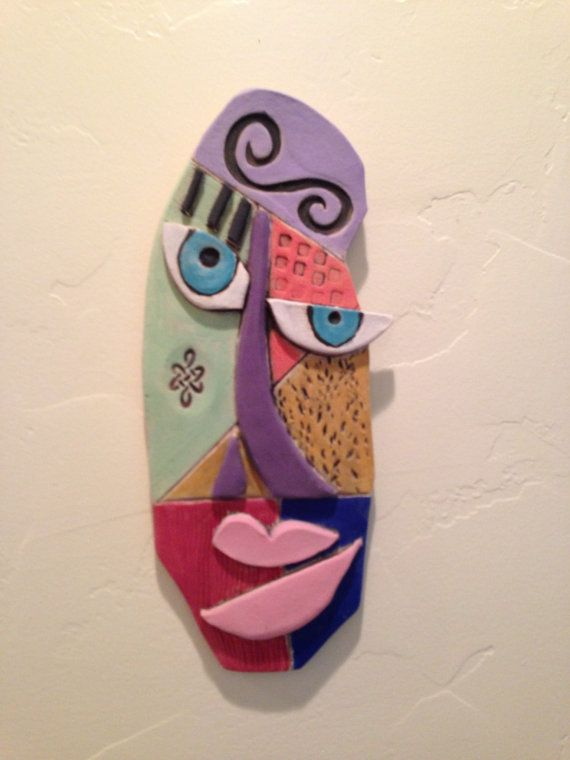 Items similar to Abstract Ceramic Face on Etsy