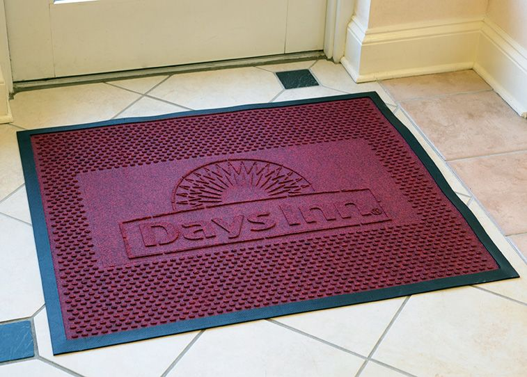 .Say to your customers with LOGO MATS . (With