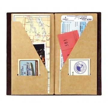 My Life All in One Place: Make your own Midori Traveler's Notebook kraft file