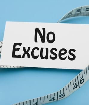 Lose the excuses, lose the weight!