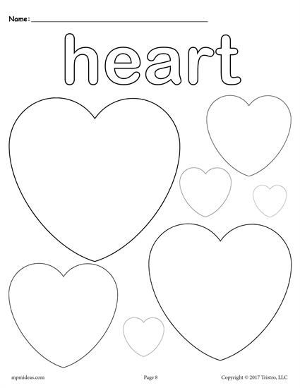 This Heart Coloring Page Includes Multiple Hearts To Color And Its Perfect For Toddlers Preschoolers Kindergarteners