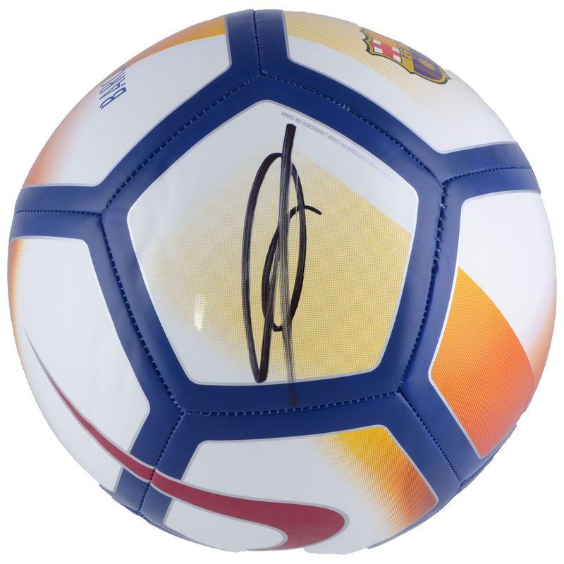 8f235fb49 Ousmane Dembele F.C. Barcelona Fanatics Authentic Autographed Nike Barca  Soccer Ball