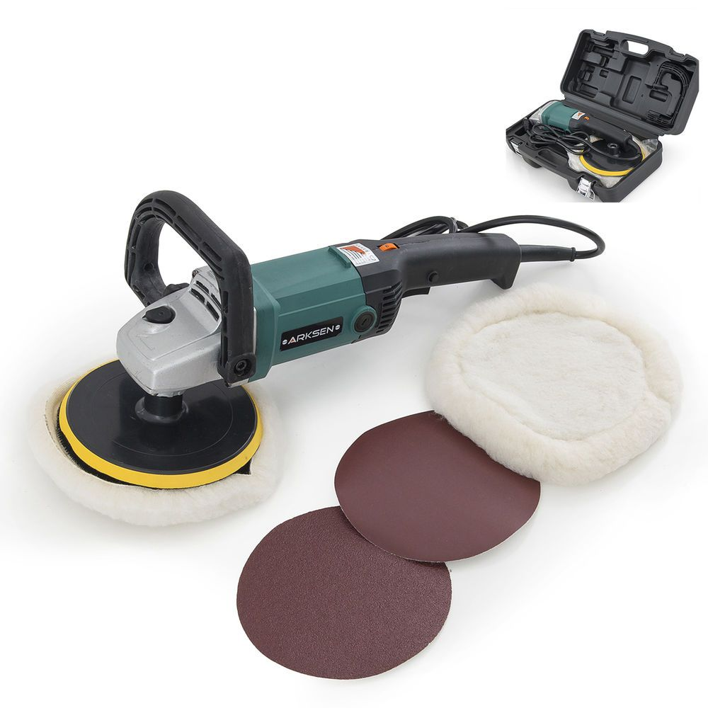 """7/"""" 1600W Electric 6 Variable Speed Car Polisher Buffer Waxer Sander Detail Boat"""