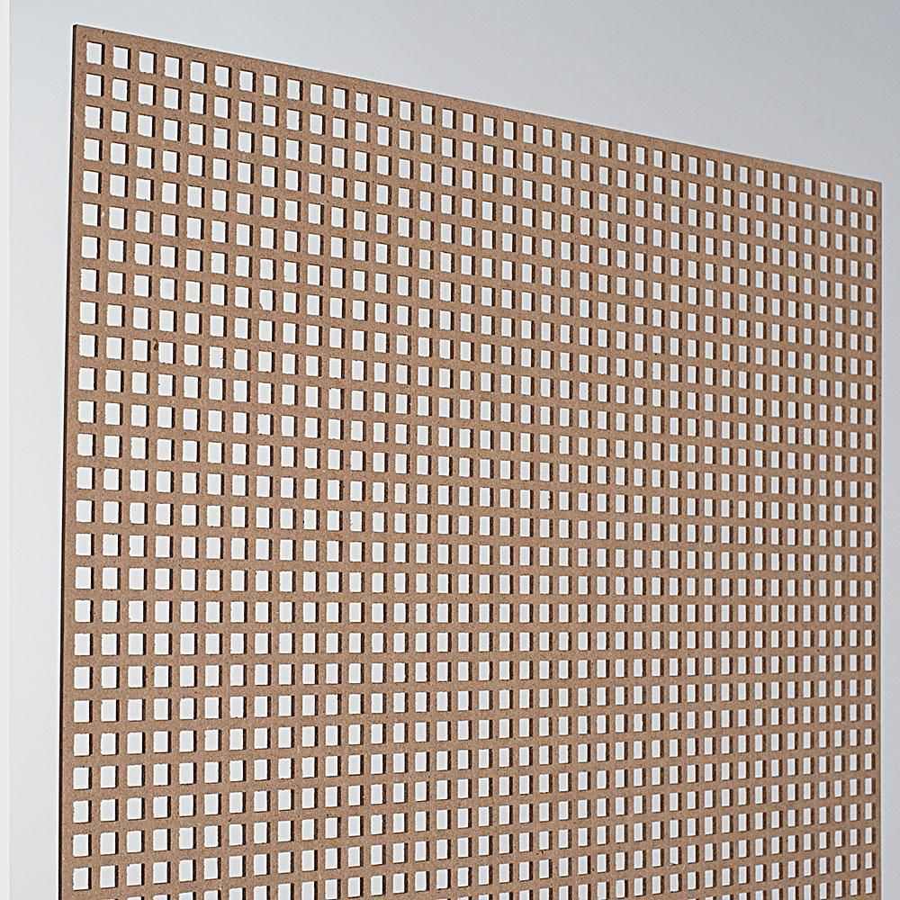 72 In X 24 In X 1 8 In Unfinished Mini Square Decorative Perforated Mdf Screening Panel Insert Decorative Panels Privacy Wall On Deck Paneling