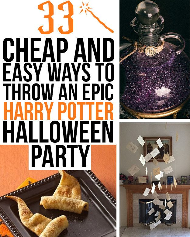 33 cheap and easy ways to throw an epic harry potter halloween party - Cheap Halloween Party Decorations