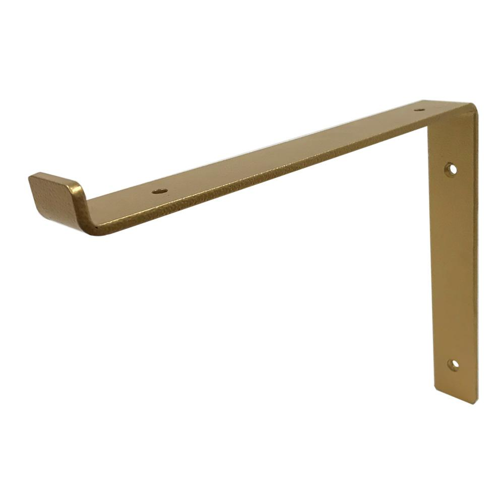 Crates Pallet 12 In Gold Steel Shelf Bracket For Wood Shelving 69108 Steel Shelf Brackets Shelf Brackets Gold