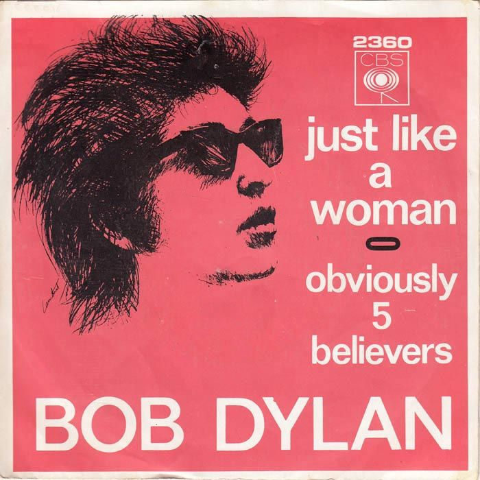 1966 Bob Dylan Just Like A Woman 7 Cbs Albumcover