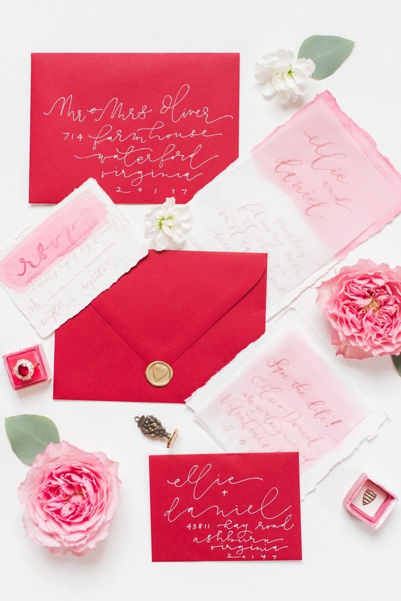 Valentine\'s Day Wedding Inspiration Shoot | Invitation suite ...