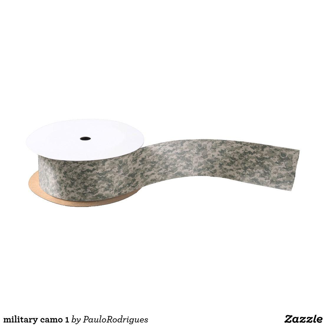 military camo 1 satin ribbon