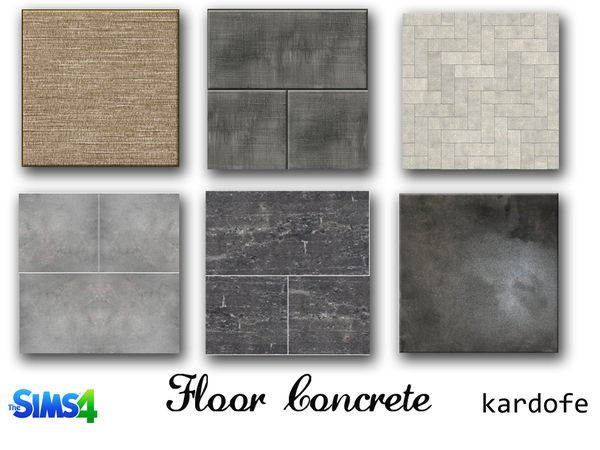 The Sims Resource: Concrete Floors By Kardofe U2022 Sims 4 Downloads