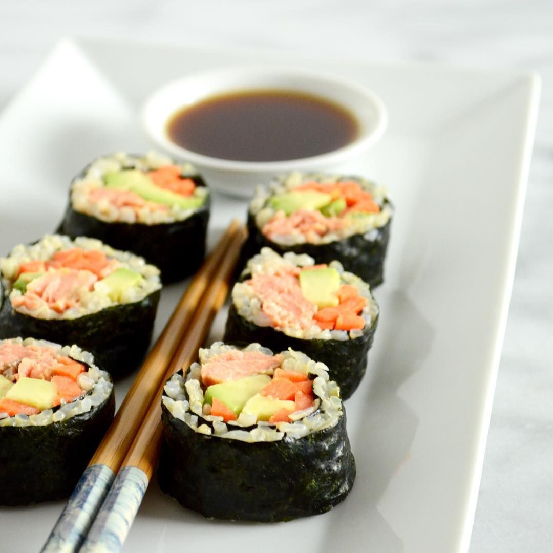 "{New} recipe just posted: Simple Salmon ""Sushi"". Don't be intimidated - making homemade ""sushi"" is sooo much easier than you think! // Get the recipe and give it a try tonight: www.columbusnutritioncompany.com/recipes under ""entrées""."