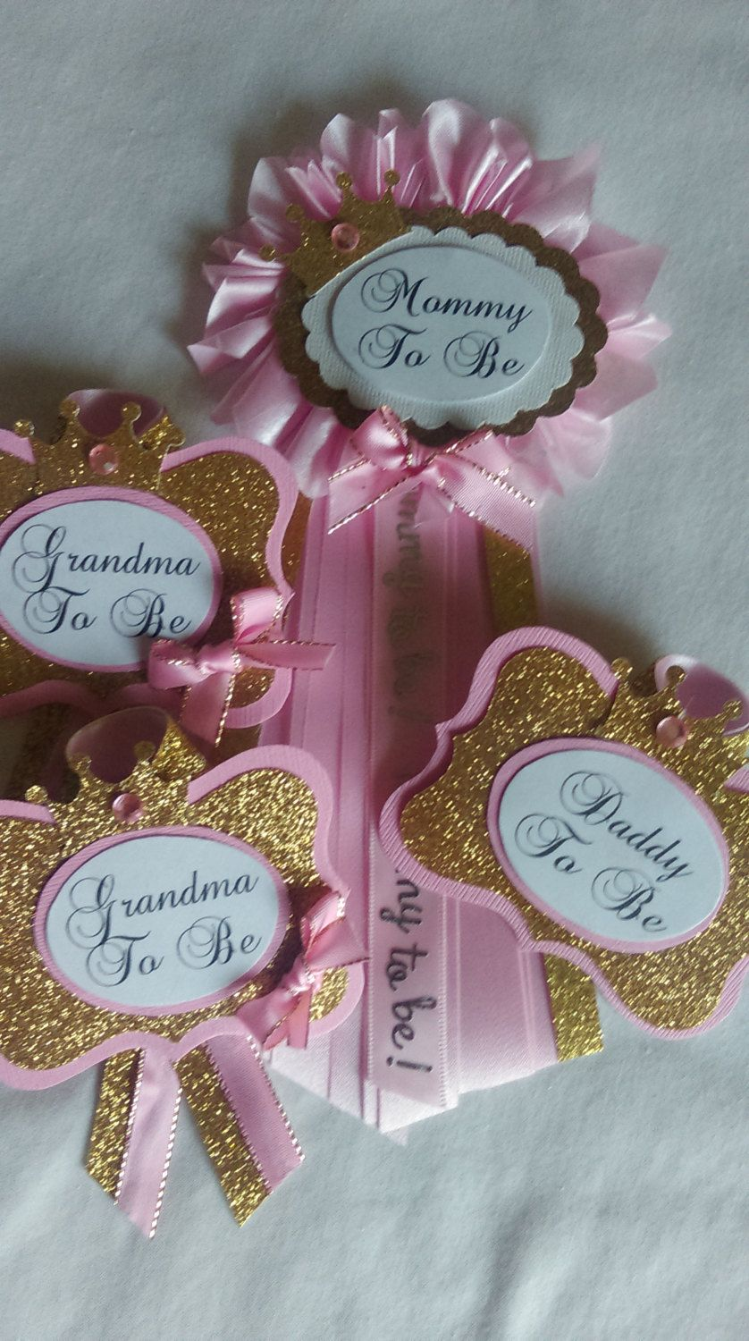 Mommy To Be Pin And Choose Guest Pins Pink Gold Princess