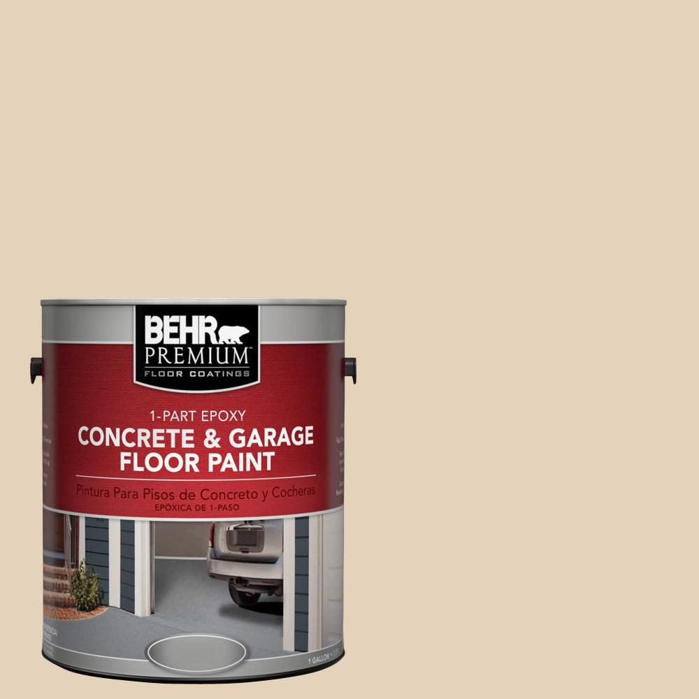 Behr Premium 1 Gal S280 2 Beach Grass 1 Part Epoxy Satin Interior Exterior Concrete And Garage Floor Paint 90001 Garage Floor Paint Painted Floors Exterior Paint