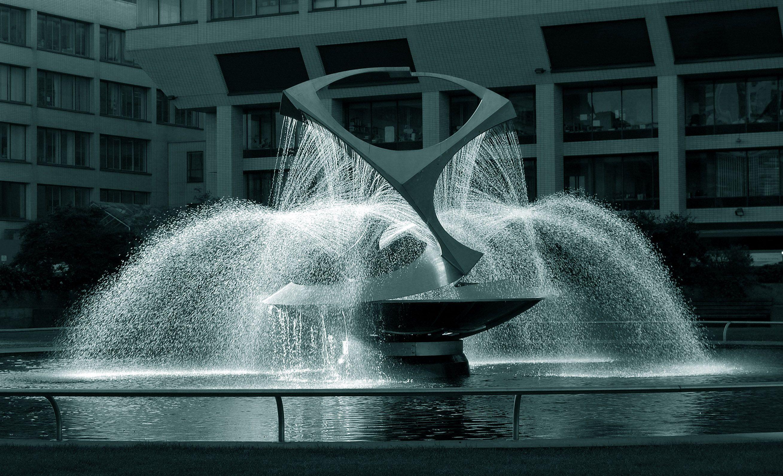 Revolving Torsion- Kinetic Sculpture Fountain Naum Gabo