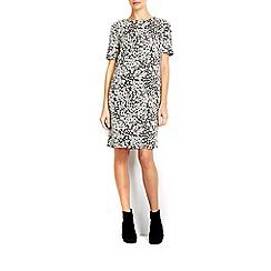 Wallis - Monochrome floral jacquard dress