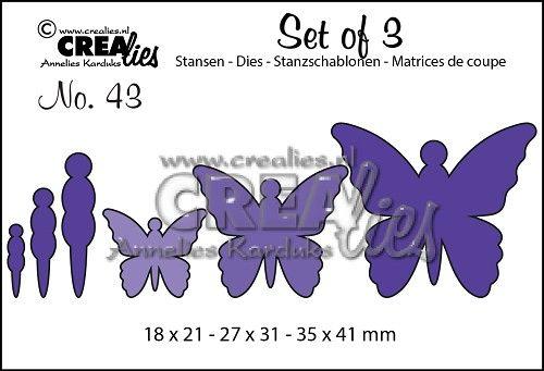 Crealies Duo la no 45 stanzschablone-mariposas 7