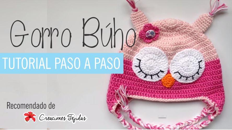 Video-Tutorial Gorro Búho a Crochet | Tutoriales | Pinterest ...