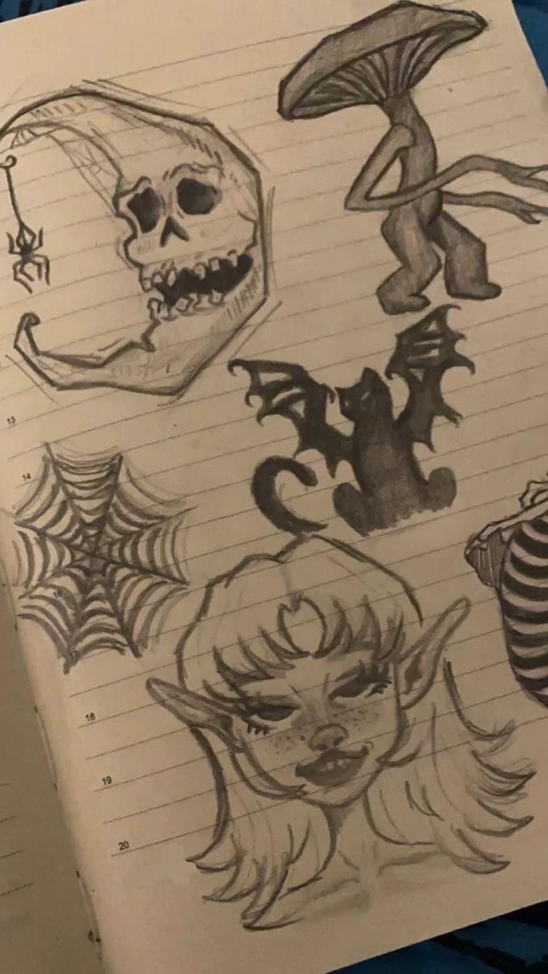 sketch draw drawings sketching art dark pencil easy aesthetic
