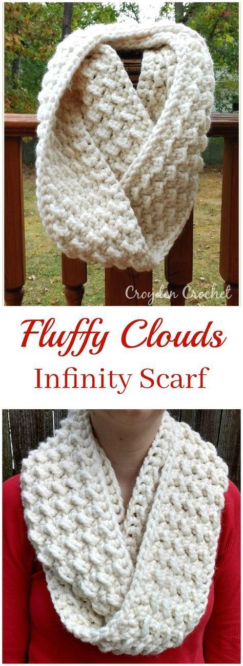 Fluffy Clouds Infinity Scarf   Pinterest   Häkeln