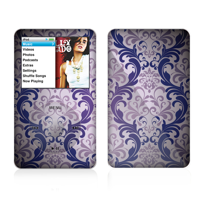 The Royal Purple Laced Wallpaper Skin For The Apple iPod Classic