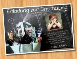 Einladung Einschulung Schulanfang MUSTER 26  - Bild vergrößern