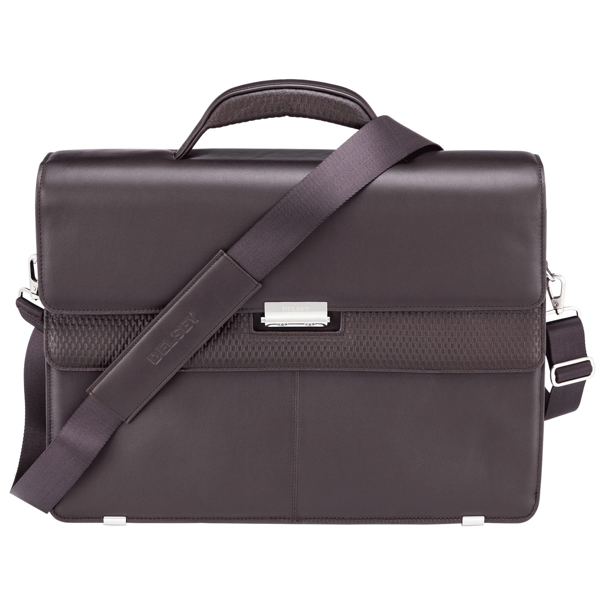 Delsey Chaillot Businesstasche 3 Fächer mit PC Schutz Braun