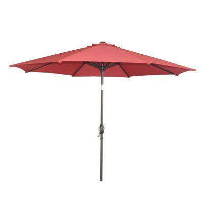 Garden Treasures 9 Ft Red Octagon Market Umbrella