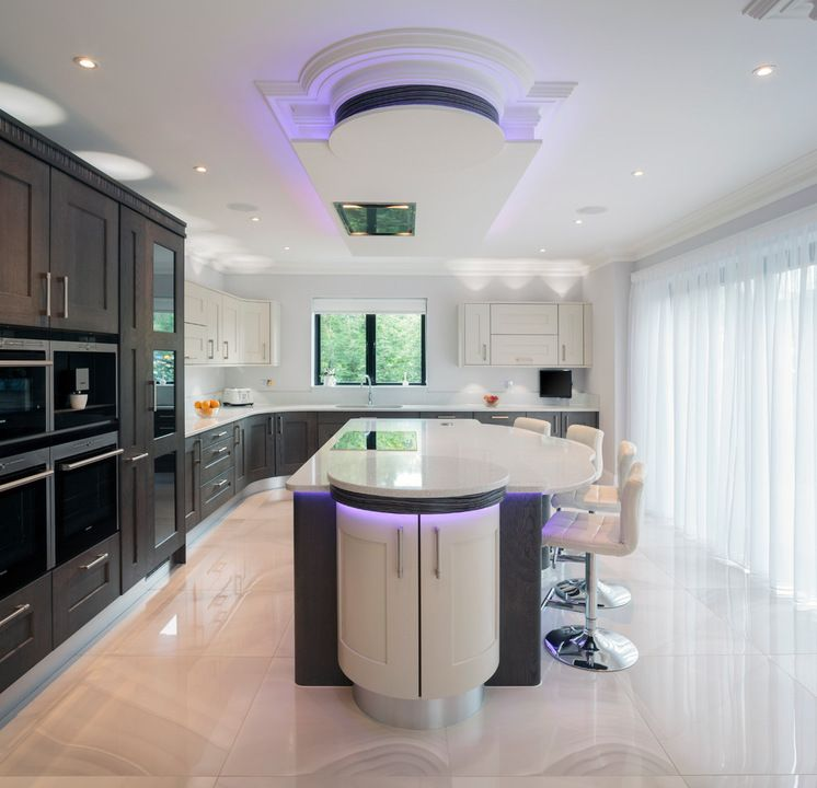 trends in kitchen lighting. Trend Watch: 13 Kitchen Looks Expected To Be Big In 2015 - Bulkhead With Decorative Molding, Exotic Zebrawood Detailing And Colored LED Lighting Trends