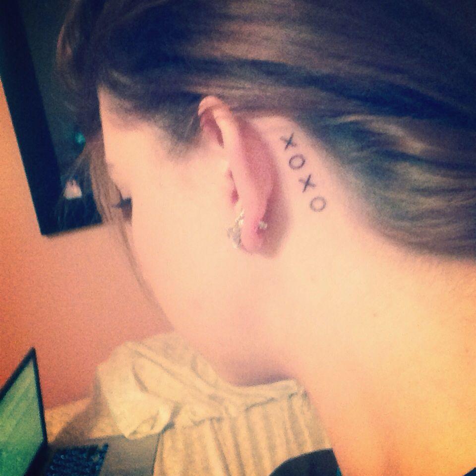 Xoxo Behind Ear Tattoo
