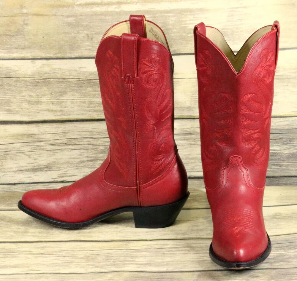 Womens Durango Cowgirl Leather Ladies Fashion Western Red Cowboy Boots