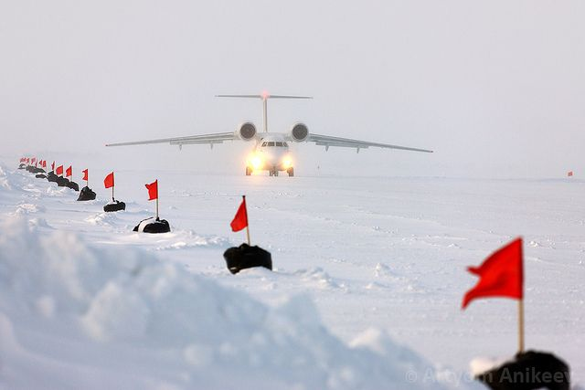 An-74 take off at Barneo ice camp by Artyom Anikeev, via Flickr