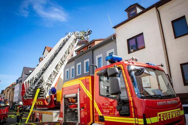 FeuerwehrEinsatz an der Hermannstraße