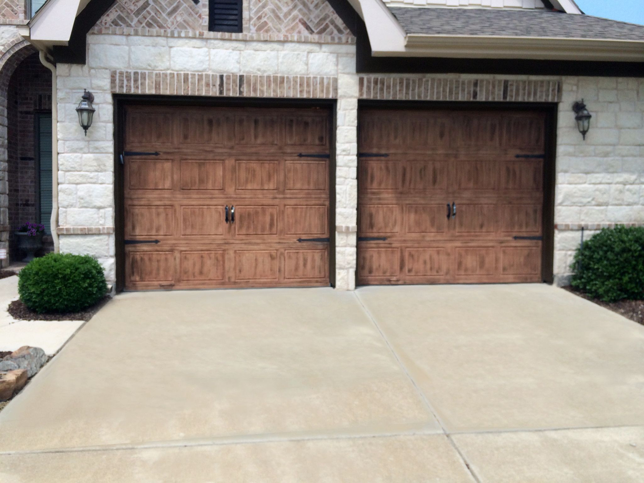 Door Refinishing | DFW Painting Garage Door Faux Finish