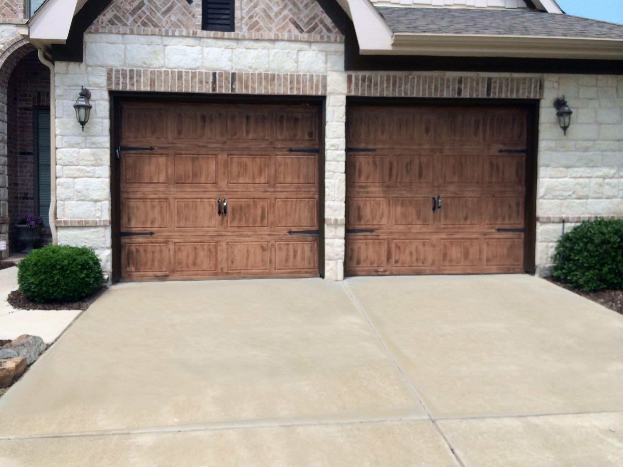 Door Refinishing Dfw Painting Garage Door Faux Finish