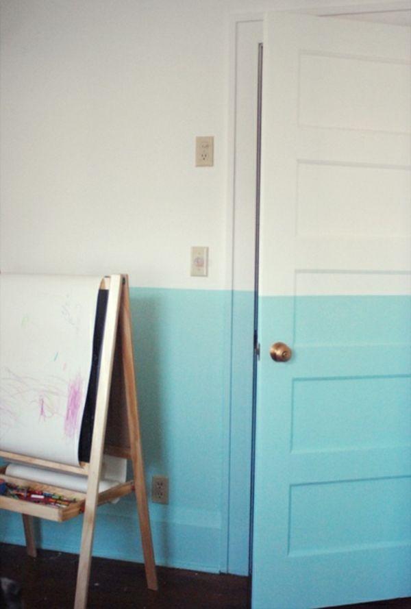 Weiß Und Hell Blau Als Farben Für Interessante Zimmer Gestaltung   62  Kreative Wände Streichen Ideen