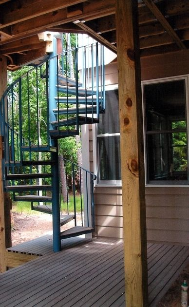 Wonderful Outdoor Spiral Staircase Kits Iron Pictures 18