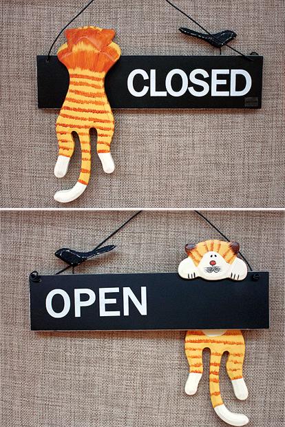 Wood Sign Board Open Close Wood Signs Kawaii Stationery Craft Display