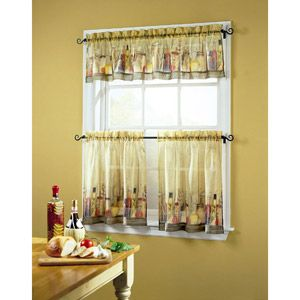 Tuscany Sheer Printed Kitchen Tiers From Walmart These Would Go