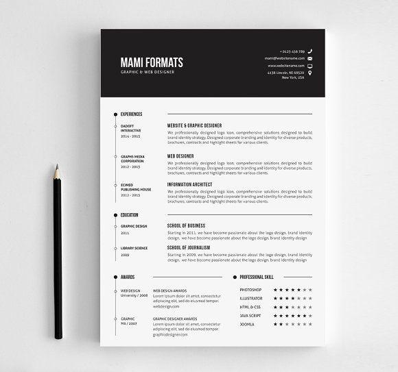 Clean Cv-Resume @creativework247 Resume Design Pinterest