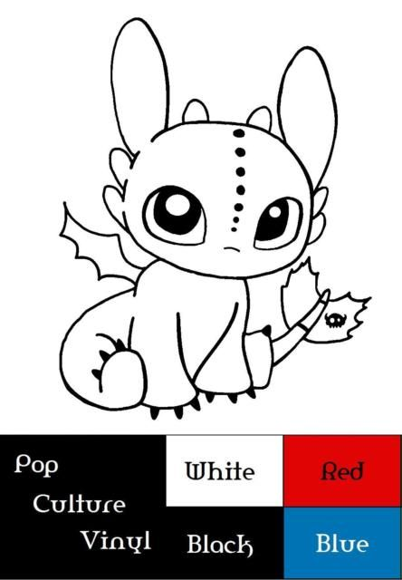 Chibi Toothless Dragon Vinyl Decal Ebay Dragon Coloring Page Cute Toothless Dragon Drawing