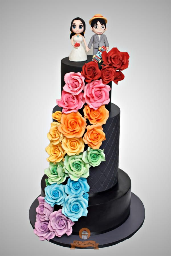 rainbow flower wedding cake rainbow quot one quot wedding cake cake by the sweetery 18958