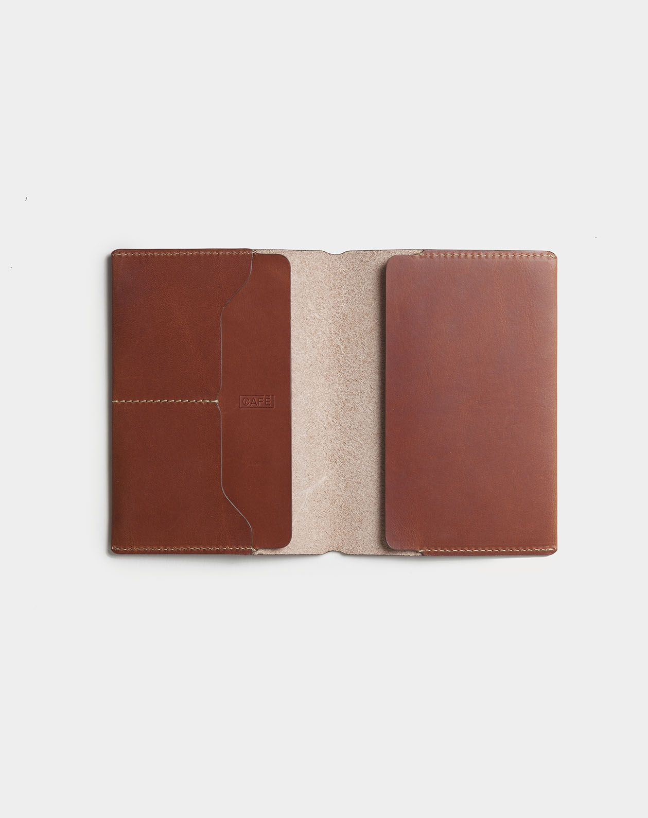 Leather Travel Wallet Brown Handmade In Spain Cafe Leather V