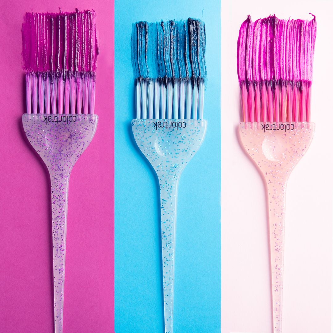 Colours By Colortrak Hair Color Brush Beauty Salon Decor Hair Stylist Logo