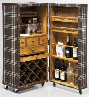 Antiguo baul hecho bar dise o en madera pinterest for Bar hecho en madera
