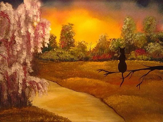 golden dreams and pur 20x16 painting gold by KristaMayOriginals