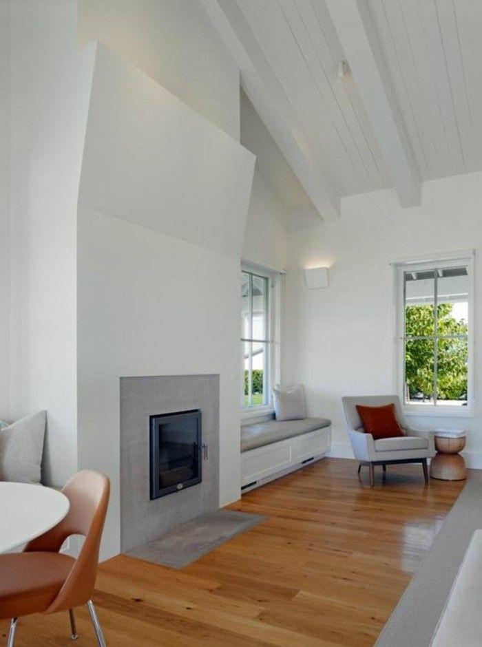 1001 id es pour transformer une chemin e rustique en moderne cheminee farmhouse fireplace. Black Bedroom Furniture Sets. Home Design Ideas