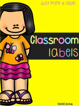 Thank You for viewing my page!This product includes bright and bold classroom labels that will provide a print rich environment to help your little ones with word recognition.  In this product you will find 33 amazing classroom labels!calendarcomputerrestroomwallsoapclockflagfloordoorlightwindowtelevisionsinktrash canpaper towelsrugtablechairplantpencilsbackpacksdeskstoolcrateglobeteacher's deskwhiteboardbanana tablebulletin board