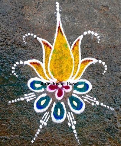 Pin by RAJESHWARI RASRI on Colorful Fancy Rangolis for Home ...